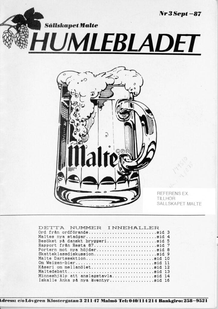 Humlebladet #3, 1987