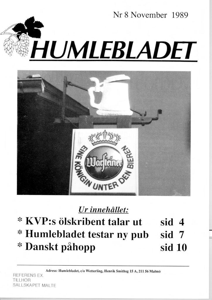 Humlebladet #8, 1989